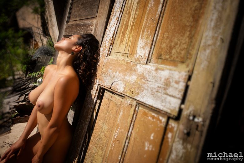 sunbathing artistic nude photo by photographer mountography