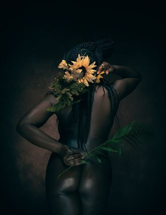 sunflower artistic nude photo by photographer michael virts