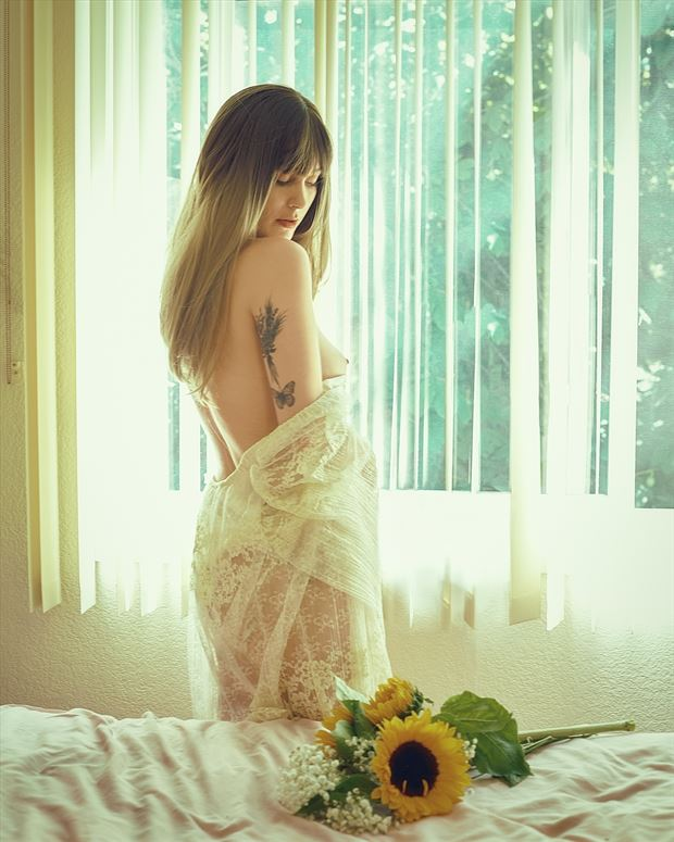 sunflowers artistic nude photo by photographer robin burch