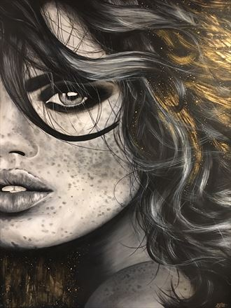 sunkissed and stardust close up artwork by artist leesa gray pitt