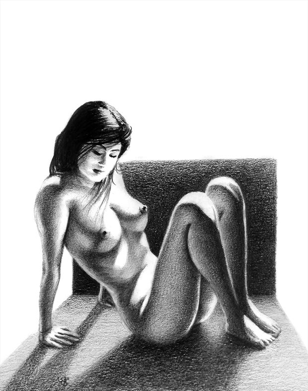 sunlit corridor 2 artistic nude artwork by artist subhankar biswas