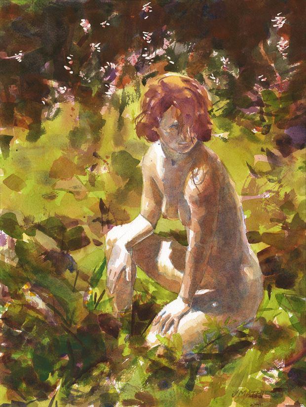 sunny glade artistic nude artwork by artist artbyjeff