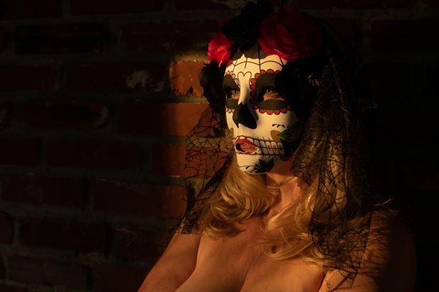 sunset mask gothic artwork by photographer gsphotoguy