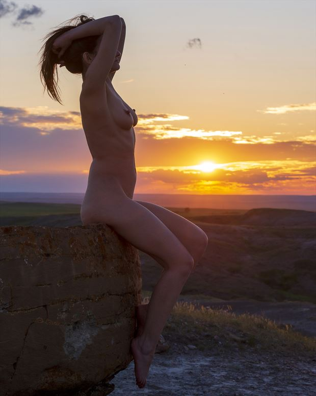sunset vibes artistic nude artwork by photographer positively exposed photography