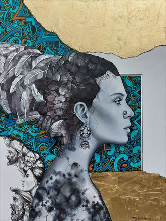 surreal abstract artwork by artist ali