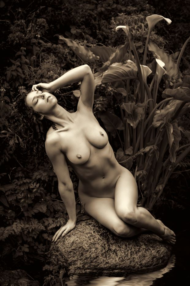 swan song artistic nude photo by photographer philip turner