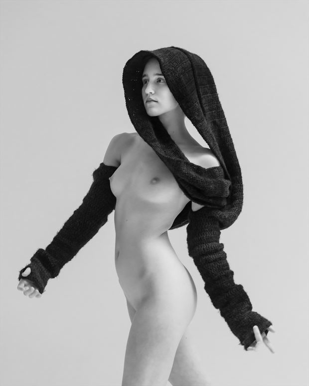 sweater weather artistic nude photo by model ahna green