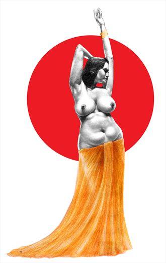 sweet surrender artistic nude artwork by artist subhankar biswas