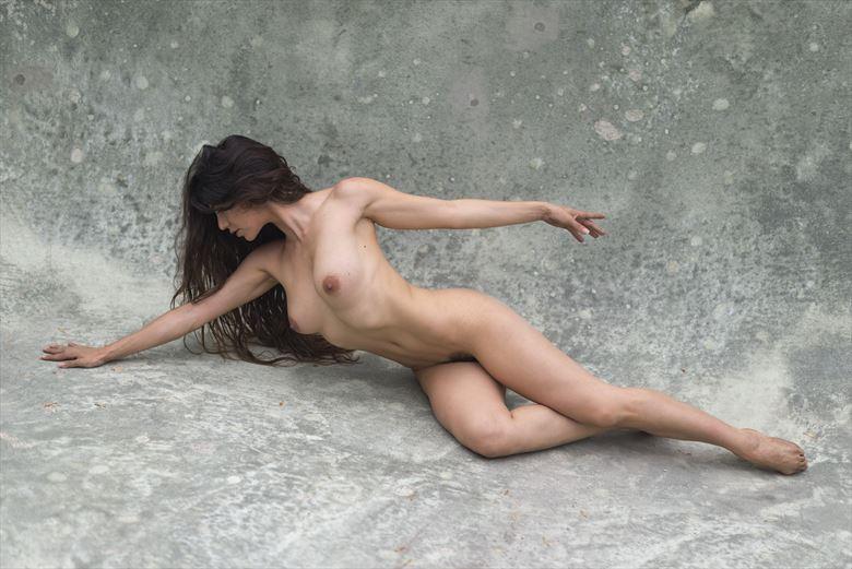 swim stroke artistic nude photo by photographer alan h bruce
