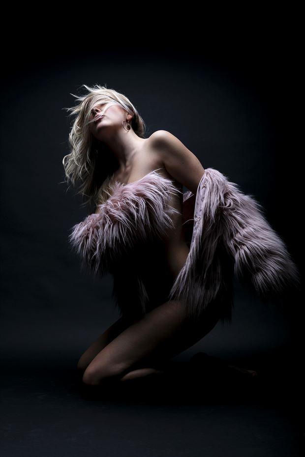 sylph in pink sensual photo by photographer tim bradshaw