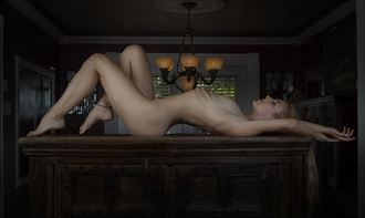 tabled artistic nude photo by photographer mikeleblancphotoart