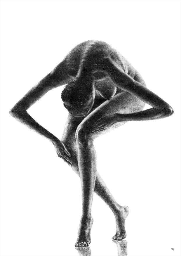 take a bow artistic nude artwork by artist subhankar biswas