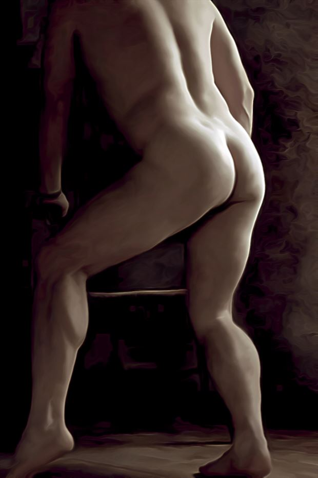 take an antique seat artistic nude artwork by model masterarti