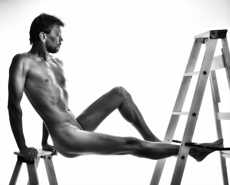 tale of two ladders 1 artistic nude photo by photographer r pedersen