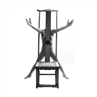 tall chair 11 artistic nude photo by photographer toby maurer