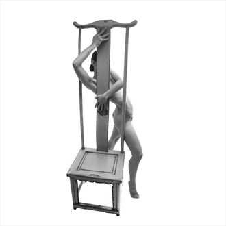 tall chair 5 artistic nude photo by photographer toby maurer