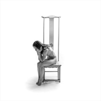 tall chair 8 artistic nude photo by photographer toby maurer
