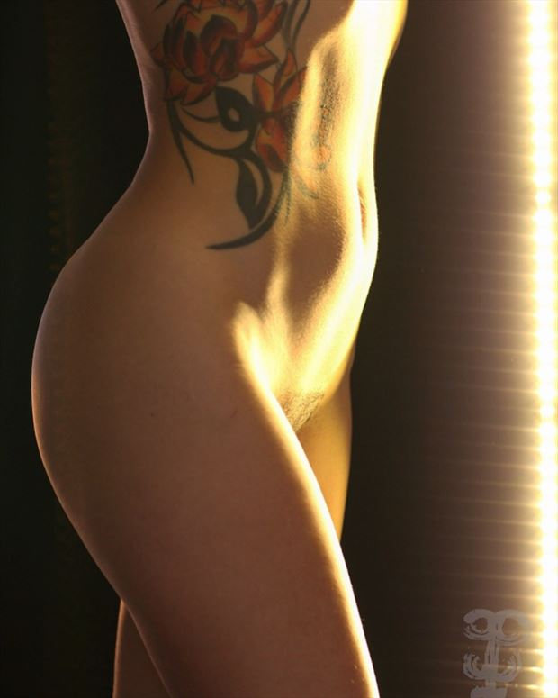 tattoo the moment artistic nude photo by model linaill