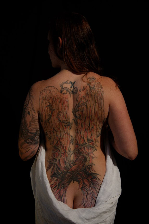 tattooed back Artistic Nude Photo by Photographer Fred Scholpp Photo