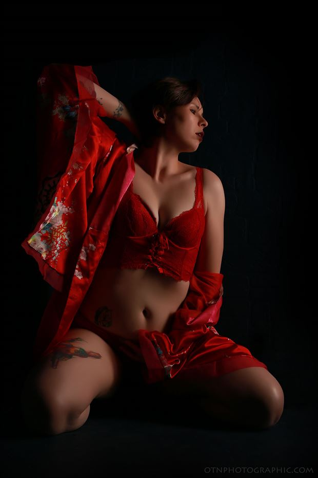 tattoos lingerie photo by model kai