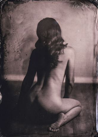 tc wet plate on 5x7 tintype artistic nude photo by photographer mike willingham