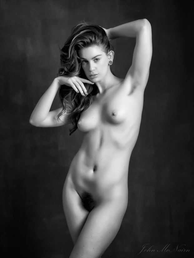 tell me of the secret moon artistic nude photo by photographer john mcnairn