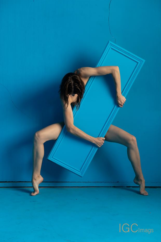 the Blue Mirror Implied Nude Photo by Photographer IGC Images