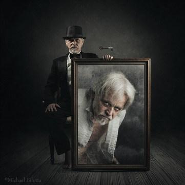 the Strange Self Portrait of Dr. Henry Jeckyll Surreal Photo by Photographer Michael Bilotta