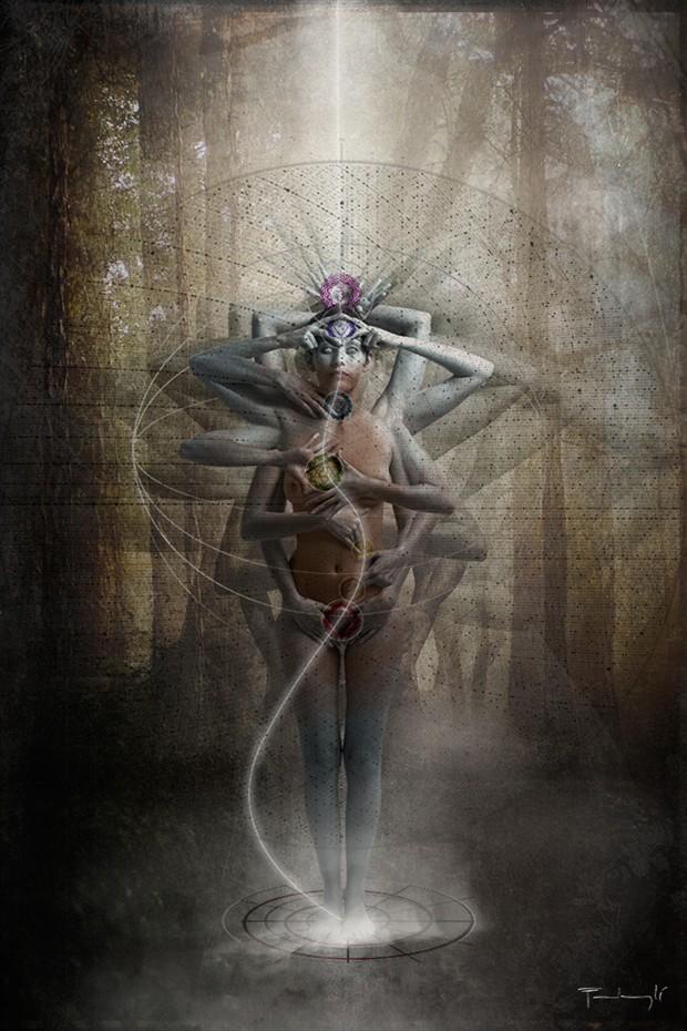 the awakening Artistic Nude Artwork by Artist pierre fudaryl%C3%AD