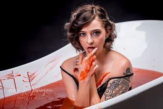 the blood countess bathory tattoos photo by model elizabeth lee
