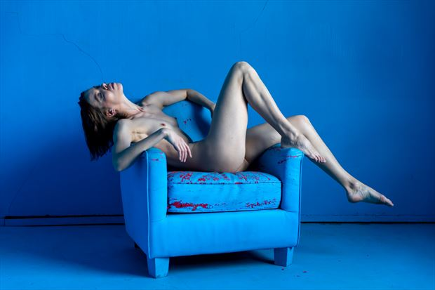 the blue chair 3 artistic nude photo by photographer lamont s art works