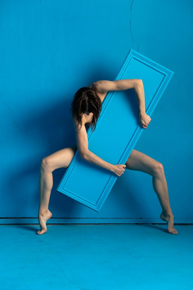 the blue mirror on blue 5 artistic nude photo by photographer lamont s art works