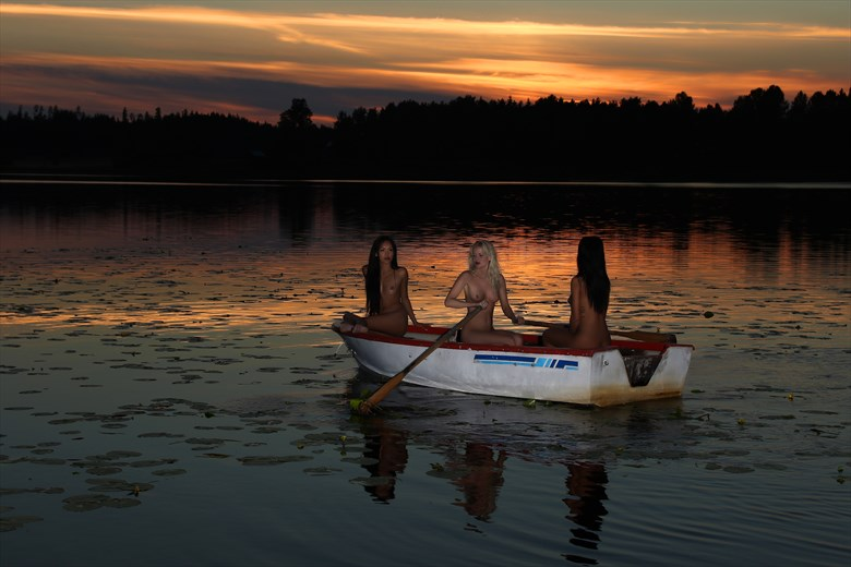 the boat Artistic Nude Photo by Model Anna Johansson