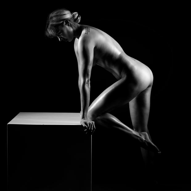 the box no 1 artistic nude photo by model alexandra queen