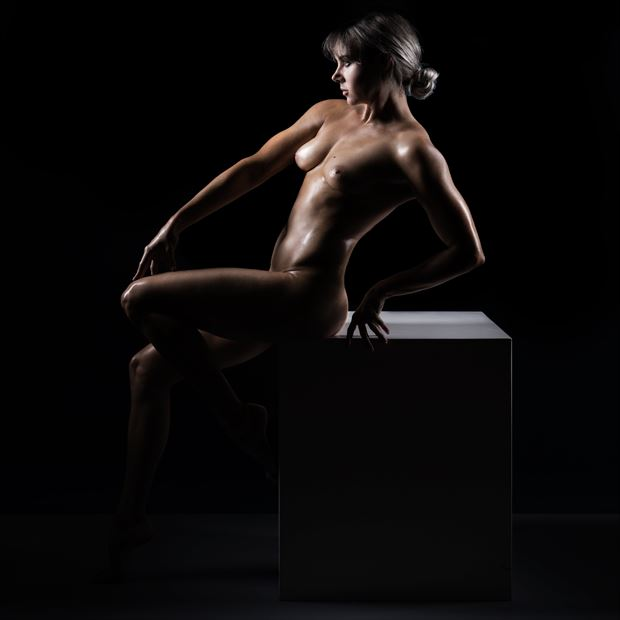 the box no 3 artistic nude photo by model alexandra queen
