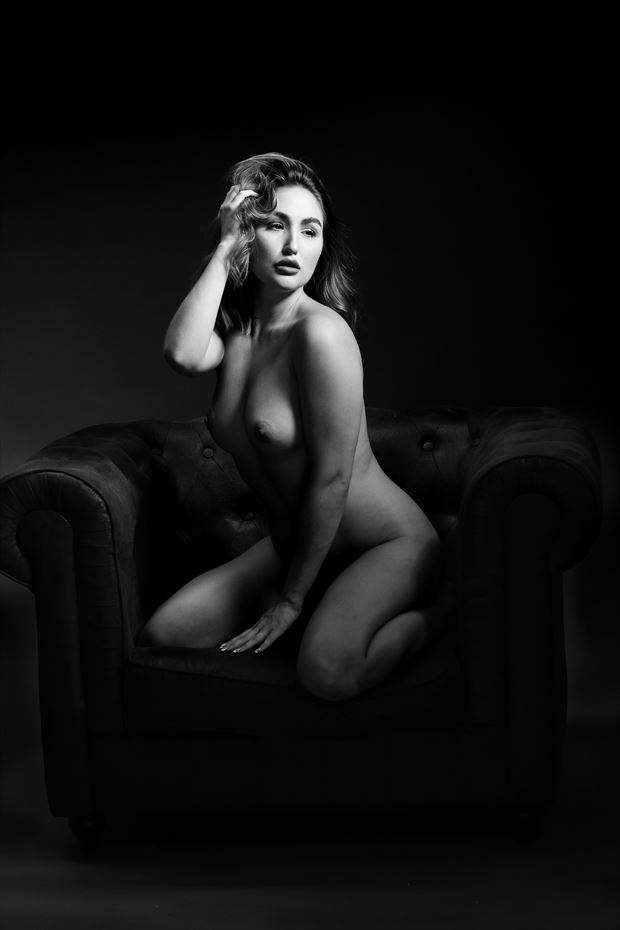 the chair rachelle artistic nude photo by photographer joseph eldridge