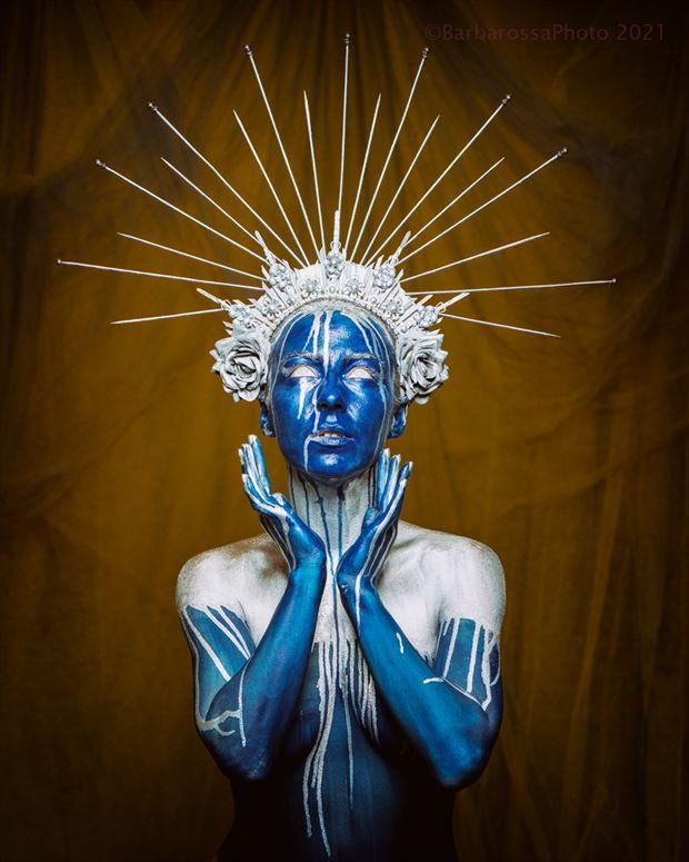 the crown landed cosplay artwork by model liene gulbe