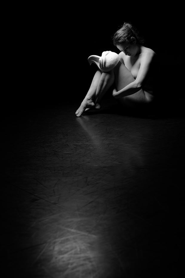 the depressive figure study photo by model misted forest