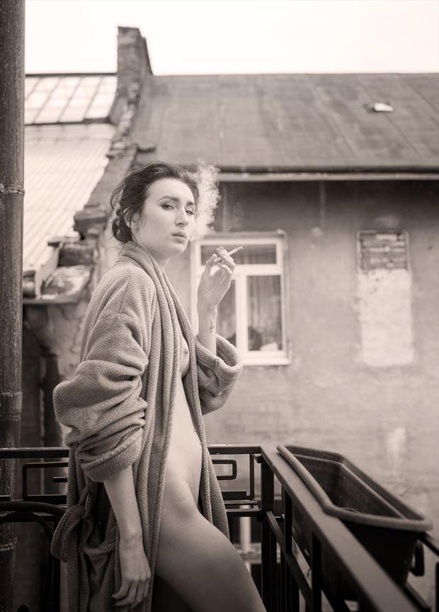 the dressing gown artistic nude photo by photographer solemnity