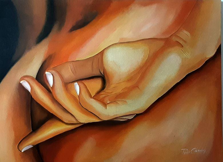 the fall 1 artistic nude artwork by artist pradip chakraborty
