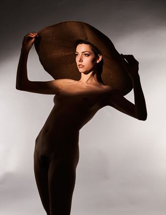 the hat artistic nude artwork by photographer don bodat