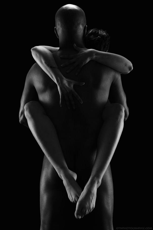 the hug artistic nude photo by model iris suarez