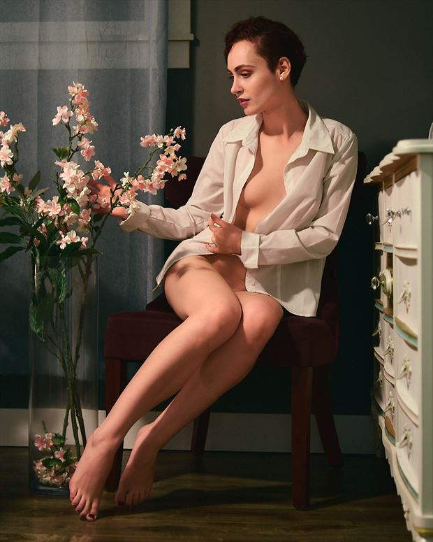 the inappropriate orchid artistic nude photo by photographer robin burch