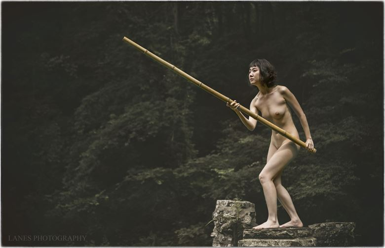 the kendo warrior attacks artistic nude photo by photographer lanes photography