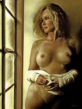 the long wait artistic nude artwork by artist van evan fuller
