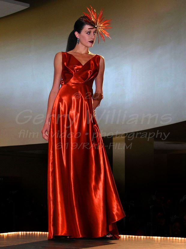 the orange gown glamour photo by photographer filmist