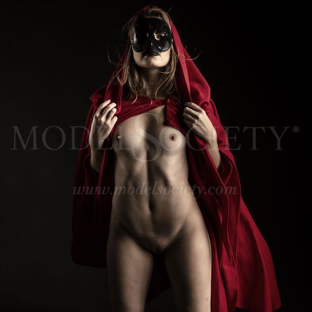 the red cape artistic nude photo by photographer depa kote