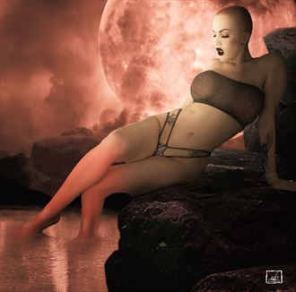 the red moon seduction lingerie photo by artist jay dub