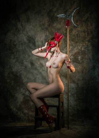 the red priestess artistic nude photo by photographer o j
