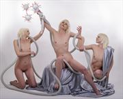 the scourge of covid artistic nude artwork by photographer photo kubitza